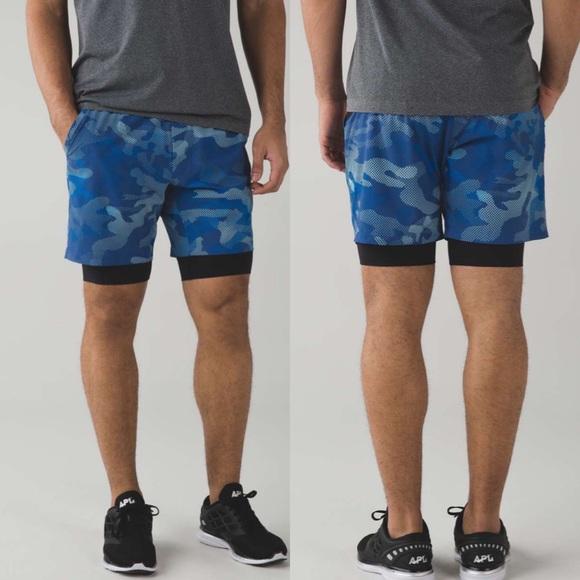 lululemon athletica Repetition Shorts Cobalt Camo